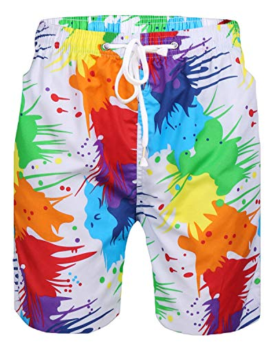 Herren Short Badeshort Blumen HAWAII Boxer Badehose Schwimmhose Surfshort Shorts Hose