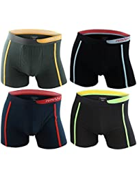 4er Pack Herren Retroshorts Boxershorts farbig