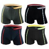 4er Pack Herren Retroshorts Boxershorts farbig, Farbe:mehrfarbig, Größe:2XL