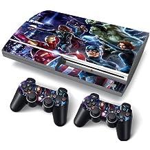 PS3 Oryginal Playstation Pegatinas de PVC para la Consola + 2 Controladores Decal Protector Arte heroes