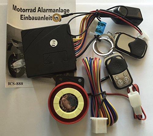 12 Volt Roller Alarmanlage mit Motorstart + 2 Handsender universal für Roller mit 12 Volt