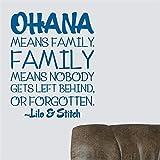 stickers muraux stickers muraux 3d Ohana Family Quote Ohana Nursery Inspiré Sticker Ohana signifie Famille Lilo Et Point Citation Vinyle Sticker Décor Autocollant