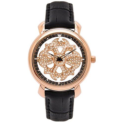 William 337orologio da donna 2018coreano del nuovo Rotary ritaglio trasparente strass regalo orologio