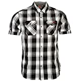 Lee Cooper - Camisa Casual - para Hombre Black White Red XXX-Large