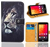 LG Leon 3G / 4G Handy Tasche, FoneExpert® Wallet Case Flip Cover Hüllen Etui Ledertasche Lederhülle Premium Schutzhülle für LG Leon 3G / 4G (Pattern 4)