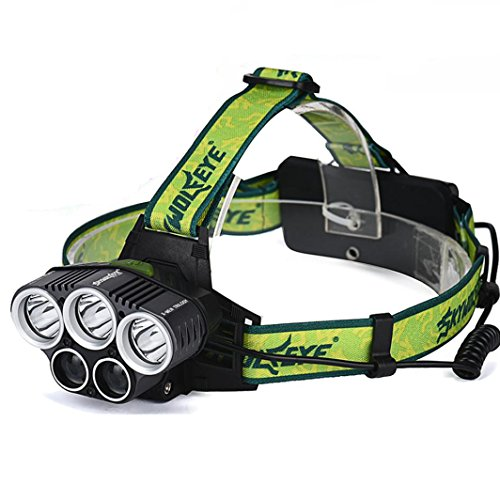 luz cabeza linterna frontal lámpara de cabeza ajustable led usb recargable, linterna led alta potencia cabeza impermeable 25000 lúmenes con para camping / pesca / ciclismo / carrera / caza