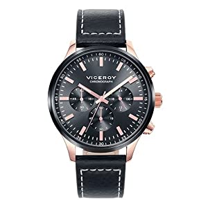Viceroy 471059 – 57 Reloj cronógrafo Black Leather Muñeco