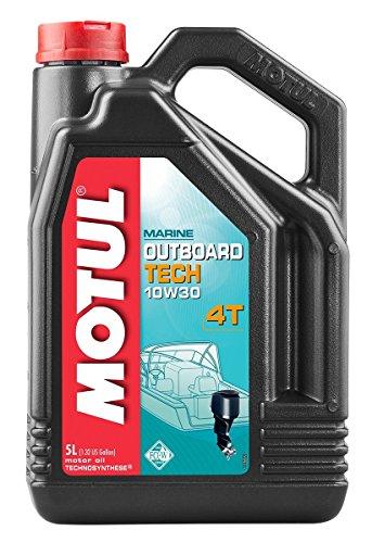 Motul 101747Moteur OUTBOARD Tech 4T 10W-30, 5l pas cher