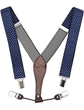 UTOVME Tirantes Ajustables Y-Forma de Moda para Hombres y Mujeres, de Ancho 35mm con Clips