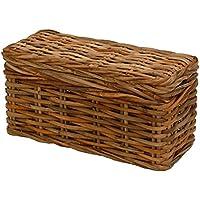 Preisvergleich für korb.outlet Robuste Truhe aus Dickem Rattan-Naturmaterial/Holztruhe Holz-Kiste rechteckig aus Echtem Rattan/Aufbewahrungs-Truhe Spielzeug-Box Auflagen-Kiste (Groß)