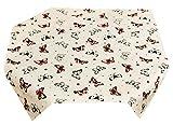 Lashuma Tischdecke 80 x 80 cm | Rot - Beige | Mitteldecke | Tischtuch Quadratisch | Küchendecke | 100% Baumwolle