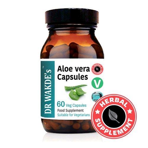 DR WAKDE'S® Aloe Vera Kapseln I 100% Kräuter I 60 Vegetarische Kapseln I Ayurvedische Nahrungsergänzung I KOSTENLOSER VERSAND auf mehrere I Mengenrabatt I Versand am selben Tag (Aloe-vera-blatt-100-kapsel)