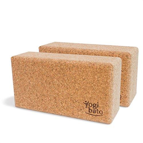 Yogibato Yoga-Block aus 100{95b641e486b29f78eb63c8a1eff874e7d57302af521655c3a2b92d9ee5207590} Natur-Kork | 2er Pack | Kork-Block für Yoga & Pilates | 22,5 x 12 x 7,5 cm | Yoga-Klotz Rutschfest