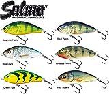 6 Salmo Fatso 10cm Sinking - Jerkbait Wobbler Set zum Hechtangeln, Kunstköder zum Spinnfischen, Hechtköder, Spinnköder