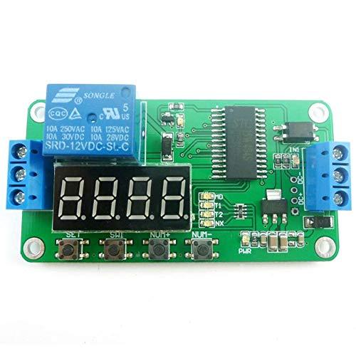 chifans 12V LED-Anzeige Digital Delay Timer Steuerschaltmodul SPS-Automatisierung Smart Home -