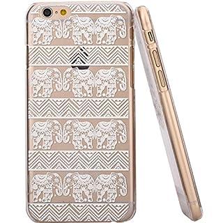 jinhoo (TM) Kunststoff Mandala Dreamcatcher Henna weiß schwarz Floral Paisley Tribal Muster Blumen Case & Cover für Apple iPhone 611,9cm iphone6plus 14cm, plastik, Stylish White little elephant, for Apple iPhone6 4.7 Inches