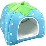 Leisial 1pc Casa de Perro del Animal Lindo Suave Acogedor Caliente Casa Para Perro Gato Mascota Domésticos Conejillo ,Azul - 26*26cm
