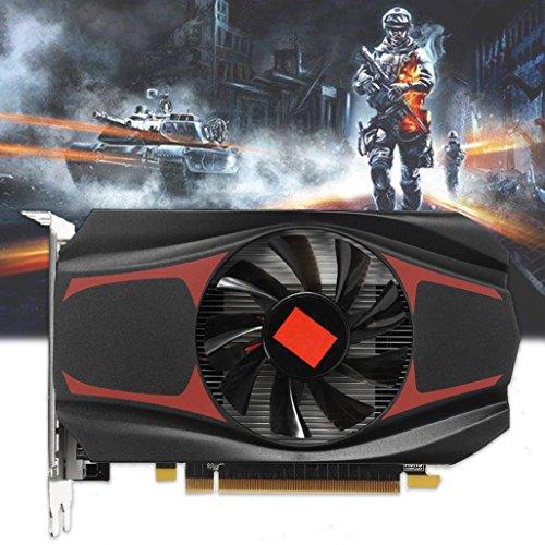 Wokee AMD ATI Radeon HD7670 4 GB DDR5 128 Bit Pci-Express unabhängige,passiv Grafikkarte (HDMI + VGA + DVI, 4GB 40 NM Speicher, 650 MHz)