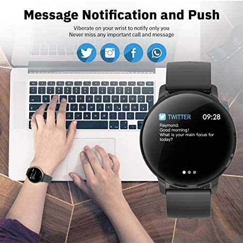 CatShin Smart Watch Activity Tracker con monitor de frecuencia cardíaca -  CS06 IP68 Impermeable Multifunción Ronda Fitness Bluetooth Reloj deportivo para hombres y mujeres, compatible con iOS y Android