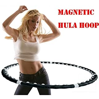 Accenter Adult Hula Hoop For Fitness – with Magnetic Hula Hoop