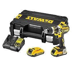 DeWalt DCD795D2-QW DCD795D2 Schlagbohrschrauber 360 W, 18 V, Schwarz, Gelb