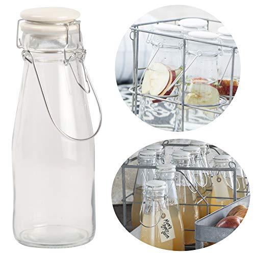 LS-LebenStil Nostalgie Wasser-Flasche 500ml Bügelverschluss Milchflasche Nature