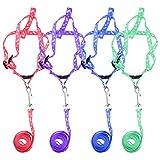 SungpunetPet Hundegeschirr, Nylon, Krawatte, Zuggurt, verstellbar, Nackenband, zufällige Farbe S