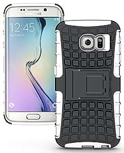 Dashmesh Shopping Samsung Galaxy S7 Edge, Rugged Dual Layer Tpu + Pc Kickstand Hybrid Case Back Cover For Samsung Galaxy S7 Edge - White