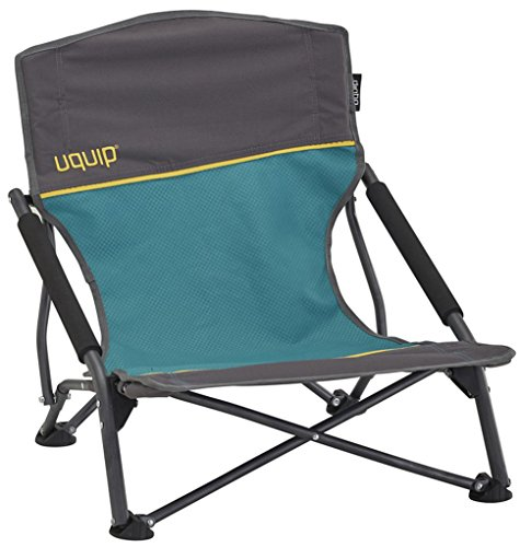 Uquip Sandy - Silla de Playa Plegable, cómoda y Estable, Azul/Gris