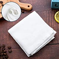 Square Soft Muslin Pure Cotton Cloth, Fit for Straining Fruit, Milk Filter in Home (50 x 50 cm, 2 Pieces)