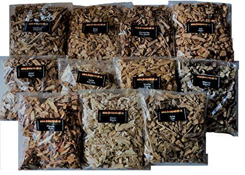 Räucherholz 2,2 KG Woodchips Sammlung zum Probieren ()