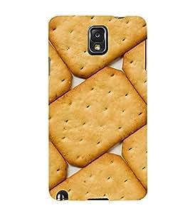 Biscuit Design 3D Hard Polycarbonate Designer Back Case Cover for Samsung Galaxy Note 3 N9000 :: Samsung Galaxy Note 3 N9002 :: Samsung Galaxy Note 3 N9005 LTE