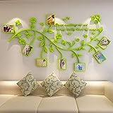 xxguo 3D Acryl Wandaufkleber Wand Sticker mit Abnehmbar Zweigen und Bilderrahmen