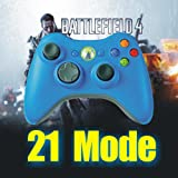 Limited BLUE Xbox 360 Rapid Fire Modded Controller 17 Mode Sniper Quick Scope and Drop Shot