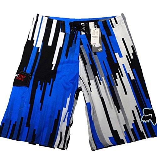 Baymate Short De Bain Pour Hommes Shorts De Plage Rapidité De Séchage Boardshorts Bleu