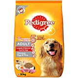 Pedigree Adult Dry Dog Food, (High Protein Variant) Chicken, Egg and Rice, 20kg Pack