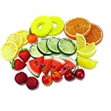 Welim Fruit Slices Artificial Fruit Slices Fake Fruit Slices Simulation Fruit Slices Colorful Fruit Slices for Home Party Decoration 9Pcs
