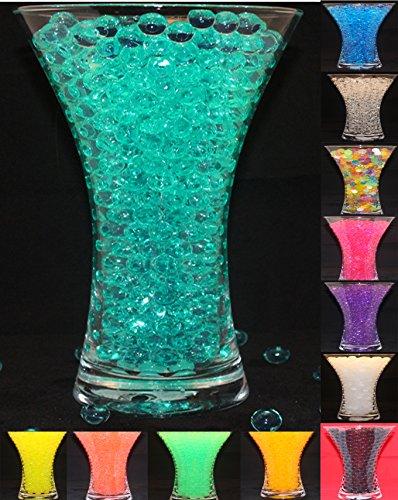 wassergels bördelt Jelly Wasserperlen - Wasser pearls Gel Beads Aqua Vaseen Filler for Hochzeit or Möbel Dekoration (TÜRKIS / TURQUOISE) (Türkis-mittelstücke)