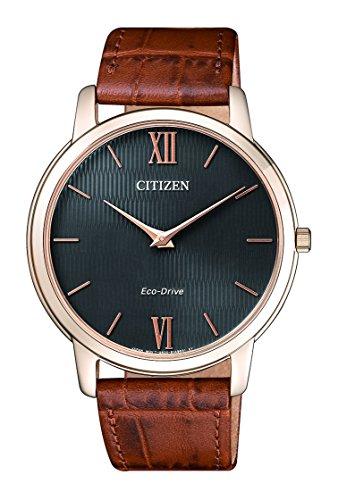 Citizen Herren Analog Quarz Uhr mit Leder Armband AR1133-15H