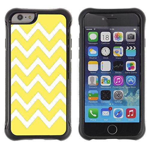 Graphic4You Chevron Muster Shockproof Anti-Rutsch Weichen Hülle Case Tasche Schutzhülle für Apple iPhone 6 / 6S (Rosa) Jaune