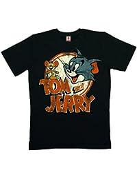 Tom et Jerry Logo T-Shirt 100 % coton organique (agriculture biologique) - noir - LOGOSHIRT