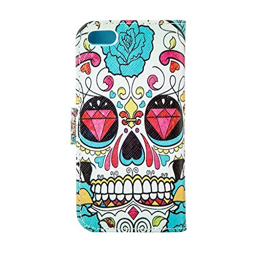 hyait® Case for Apple iPhone 5G/5S Flip Leather Wallet With Card Holder and Kickstand Case Cover RX30 RX15