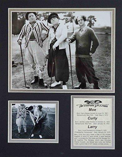 Die Drei Stooges–Golf B & W 27,9x 35,6cm ungerahmt mattierte Foto Collage von Legenden Sterben Nie, Inc. (Golf-legende)