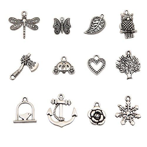 Bingcute Großhandel 100 Stück Gemischt Antik Silber