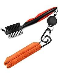 LeRan - Kit de limpieza para palos de golf, formado por cepillo retráctil y juego