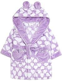 Mädchen Bademantel Bademantel weich luxuriös Flanell Fleece in drei wunderschön Farben