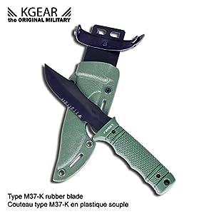 Kgear - Type M37-K rubber blade - Couteau type M37-K en plastique souple - OD