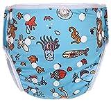 Eco Green Baby - 3 in 1 - Reusable Swim Diaper + Diaper Cover + Training Pants-Mermaid