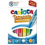 Carioca - Caja de 12 témperas sólidas en barra Temperello (42738)