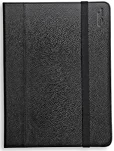 AmazonBasics Lederhülle mit Aufsteller für Apple iPad 2, Samsung Galaxy Tab 10.1, schwarz